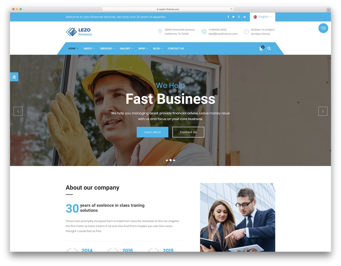 lezo business website template