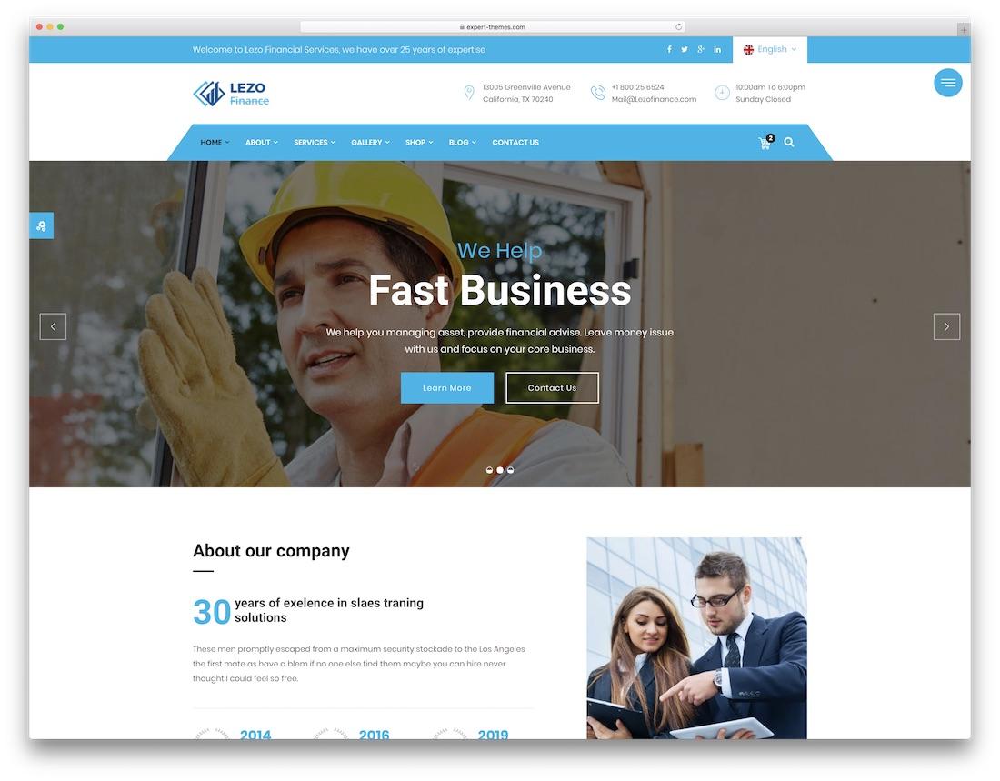 25 Top Business Website Templates Html5 Wordpress 2019