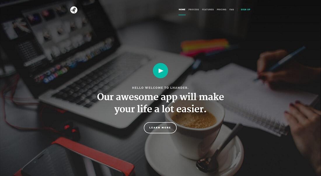 lhander free HTML website template
