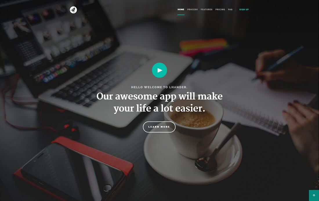 lhander free simple html template