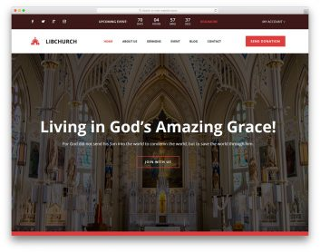 Libchurch Free Template