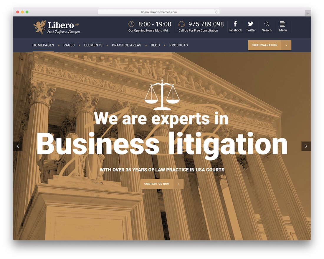 libero best lawyer wordpress theme