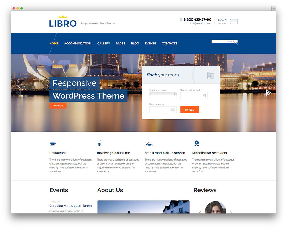 libro - vacation home theme