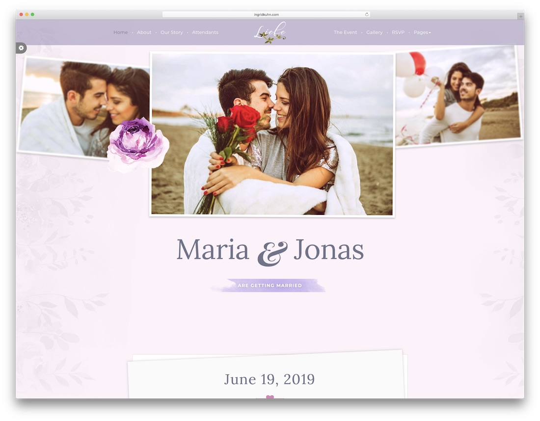 liebe html wedding website template