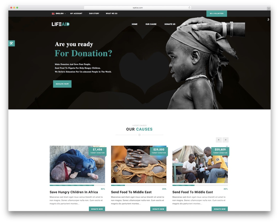 Lifeaid Html Charity Website Template