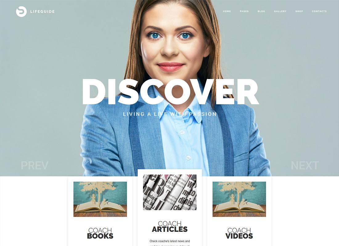 LifeGuide | Personal and Life Coach WordPress Theme