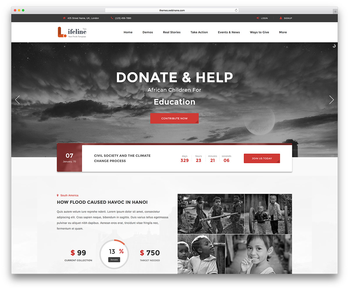 31 Best WordPress Themes For Non-Profit, Charity Organizations 2018 ...