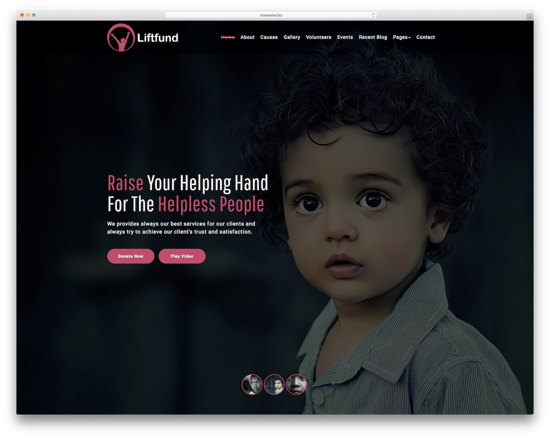 liftfund website template