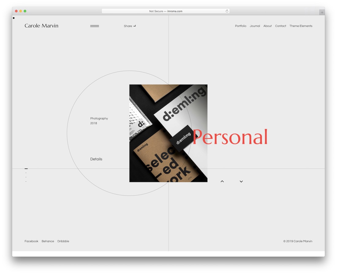 liga personal website template