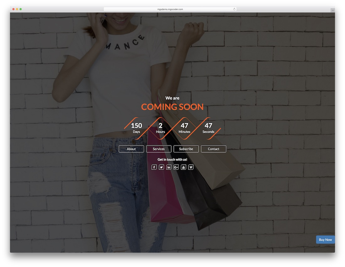 light coming soon website template