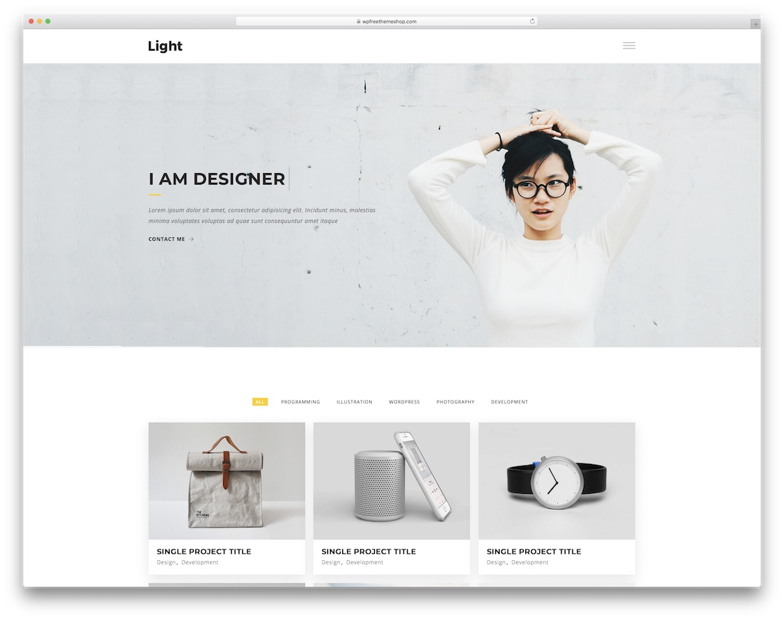 light simple bootstrap template