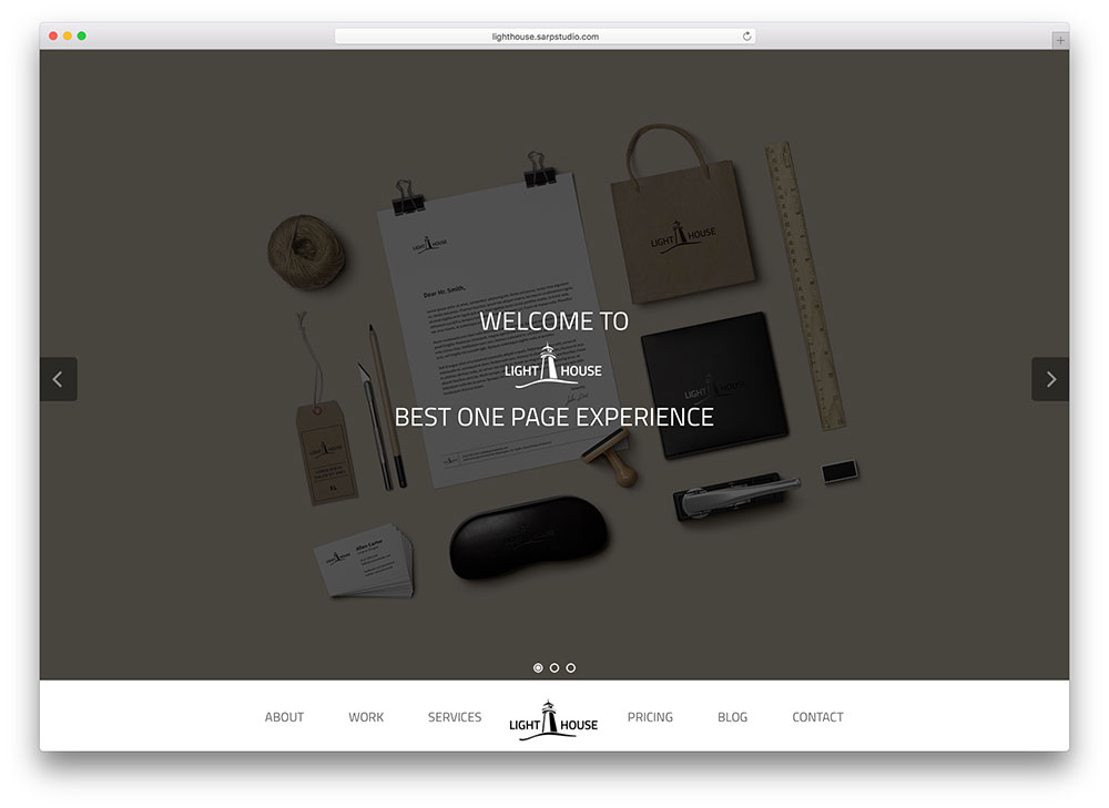 lighthouse - parallax WordPress theme