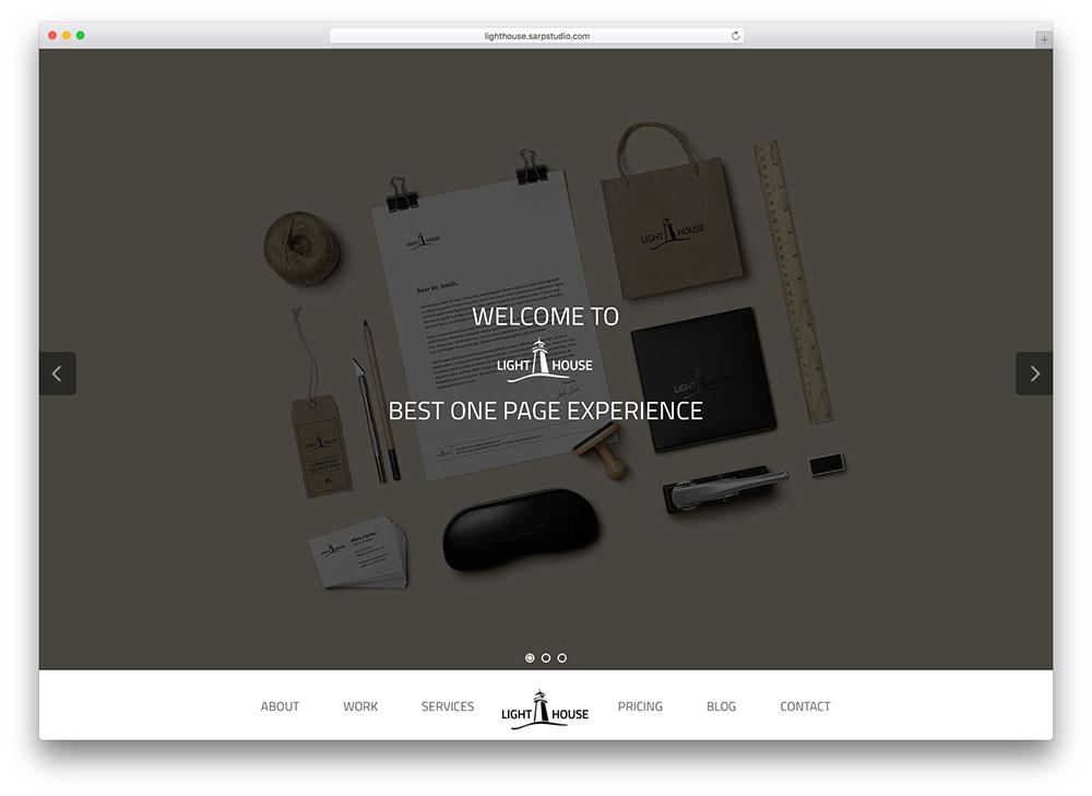 lighthouse - parallax WordPress theme