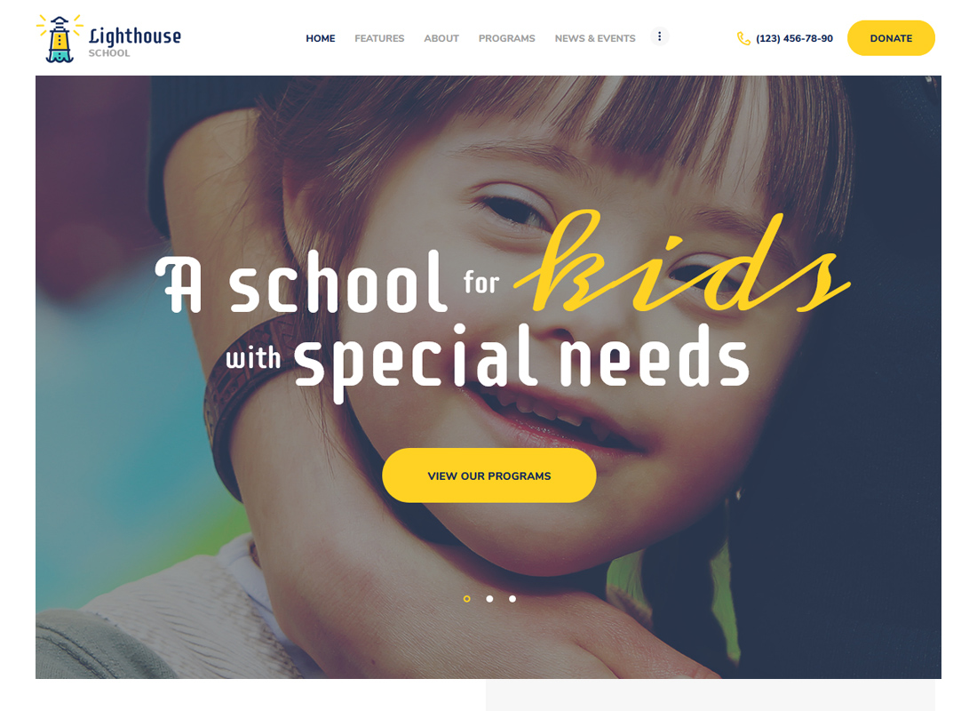 Lighthouse - School for Kids with Special Needs WordPress Theme
