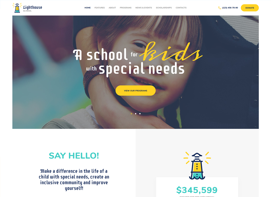 Lighthouse | School for Kids with Special Needs WordPress Theme