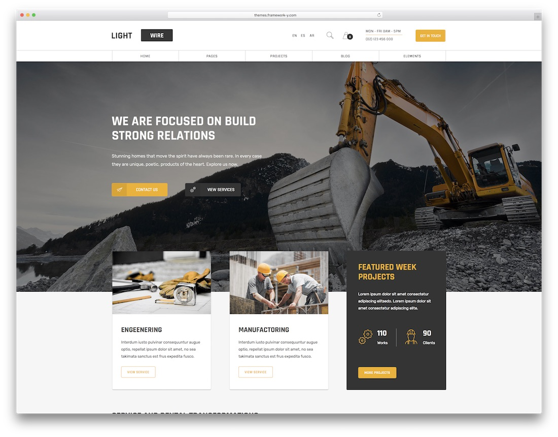lightwire popular wordpress theme