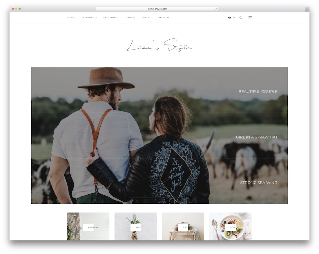 likas style personal blog wordpress theme