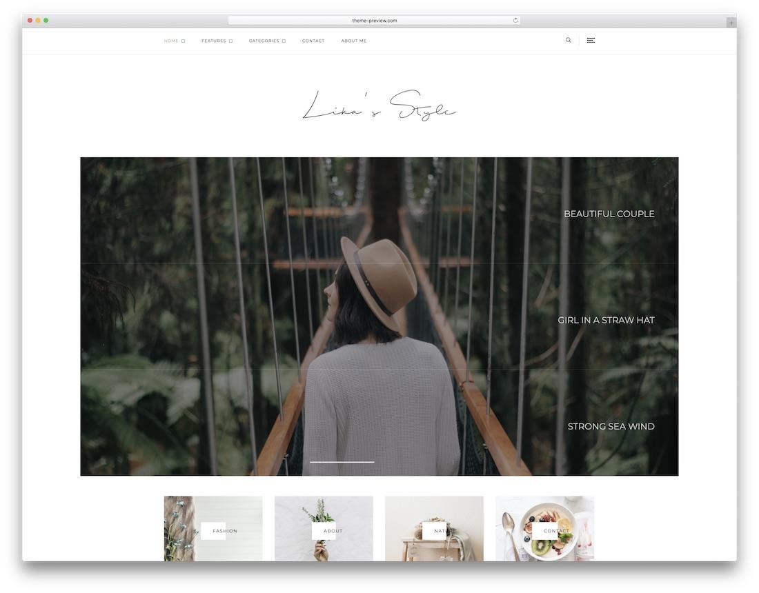 likas style wordpress instagram theme