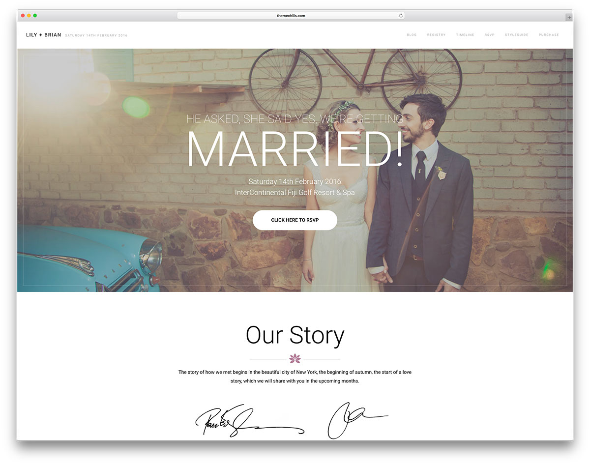 Lily Is A Gorgeous Elegant And Responsive WordPress Wedding Website Theme The Creators Added Delightful Sets Of Tools So You Can Put Beautiful Websites