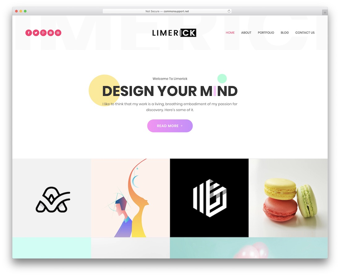 limerick designer website template