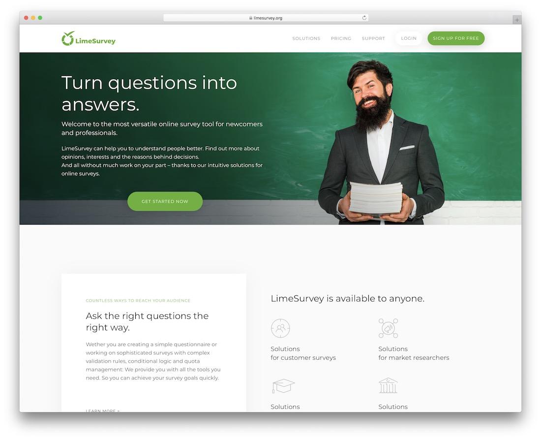 limesurvey free wordpress survey plugin