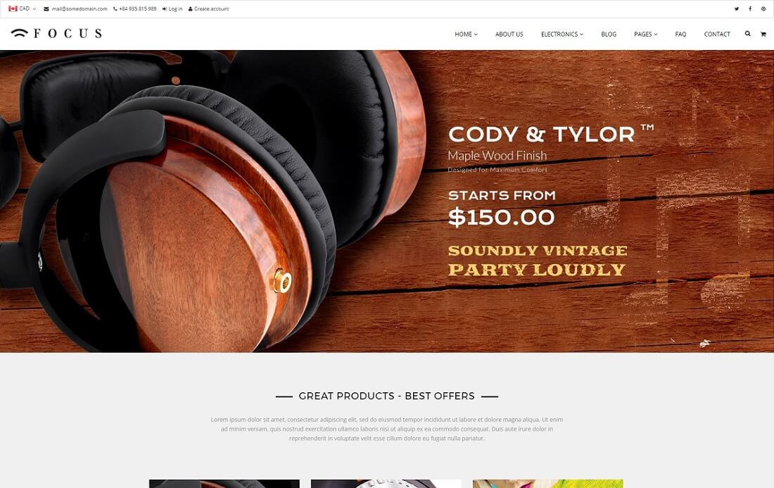 linda shopify technology theme