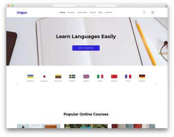 Lingua Free Template