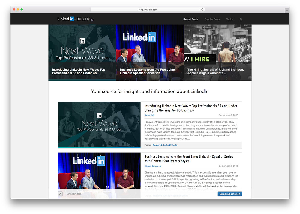 linkedin-corporate-wordpress-blog