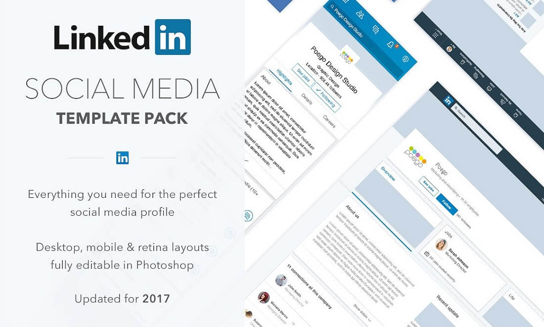 Free Social Media Template from colorlib.com