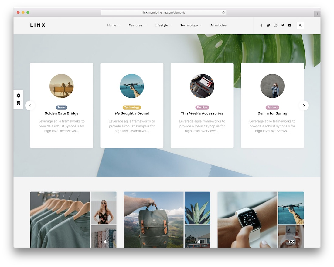 linx three column wordpress theme