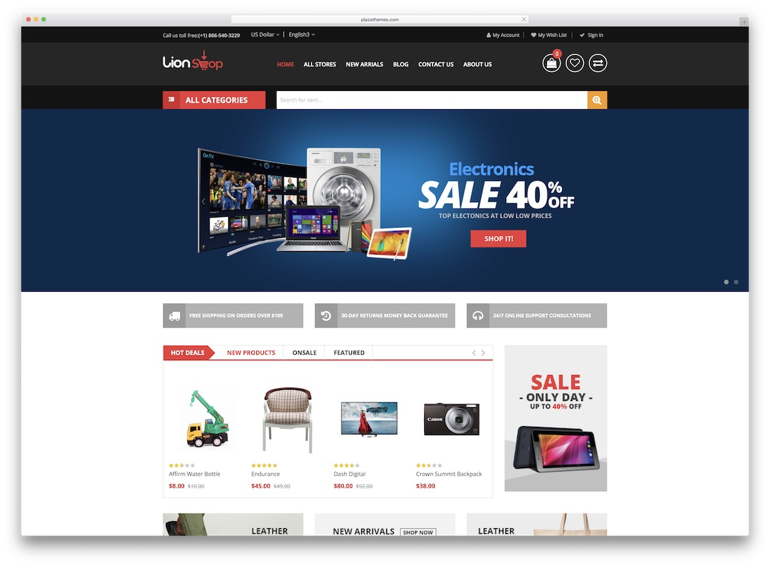 lion magento technology theme