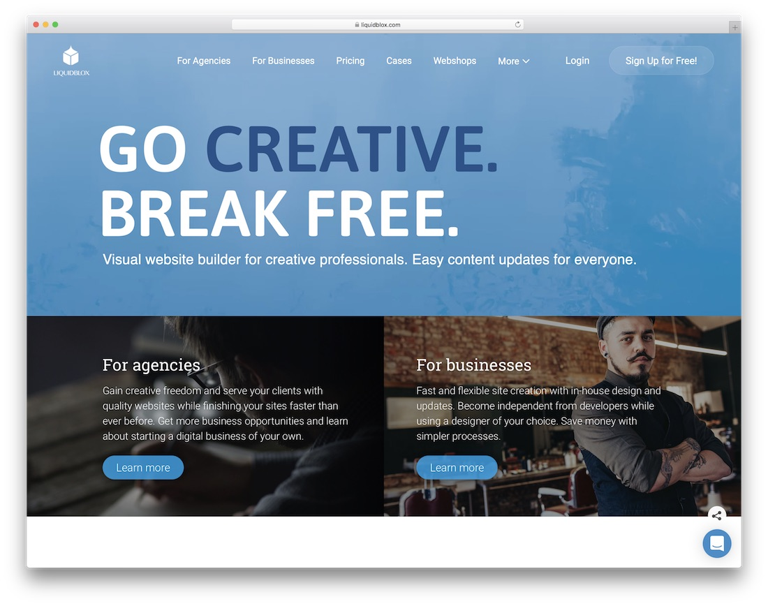 liquidblox website builder for designers