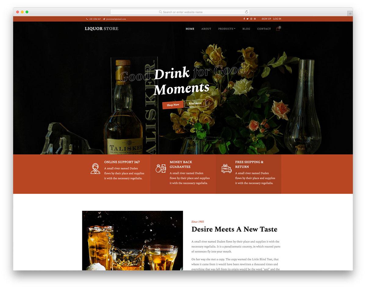 LiquorStore Free Template