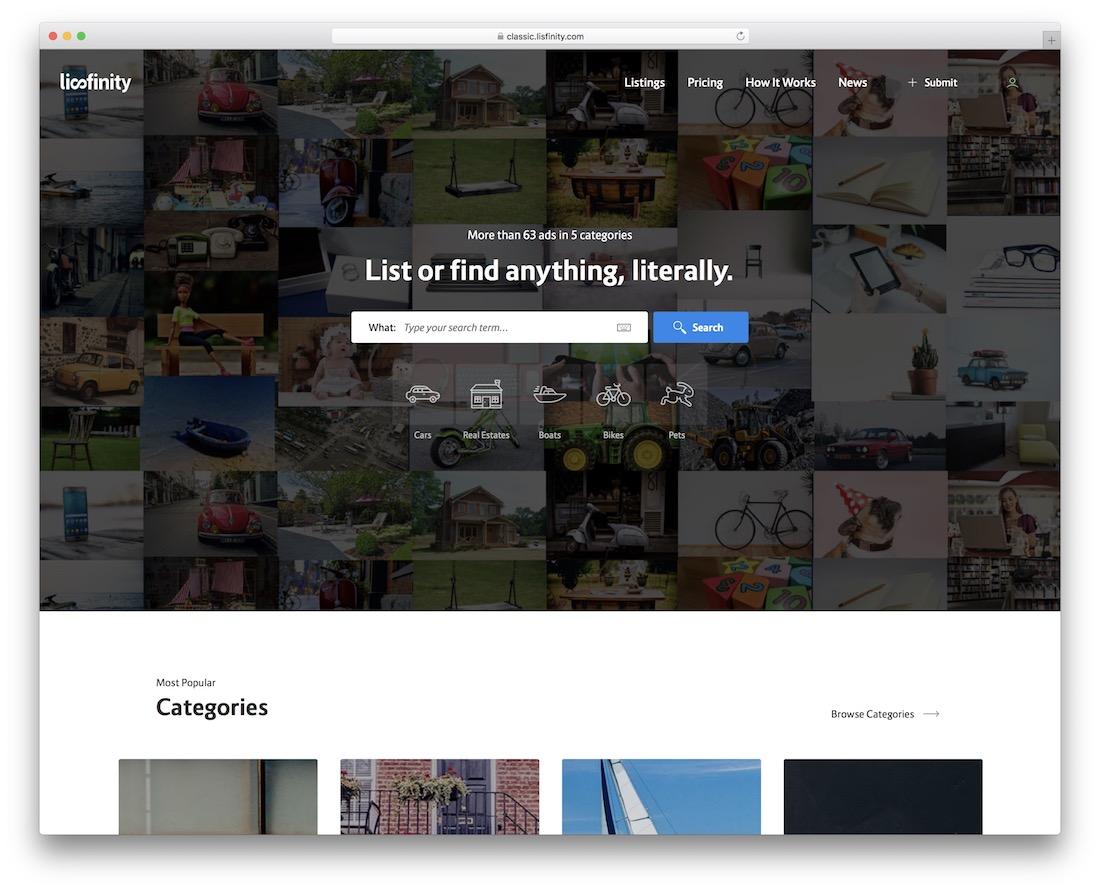 lisfinity directory wordpress theme