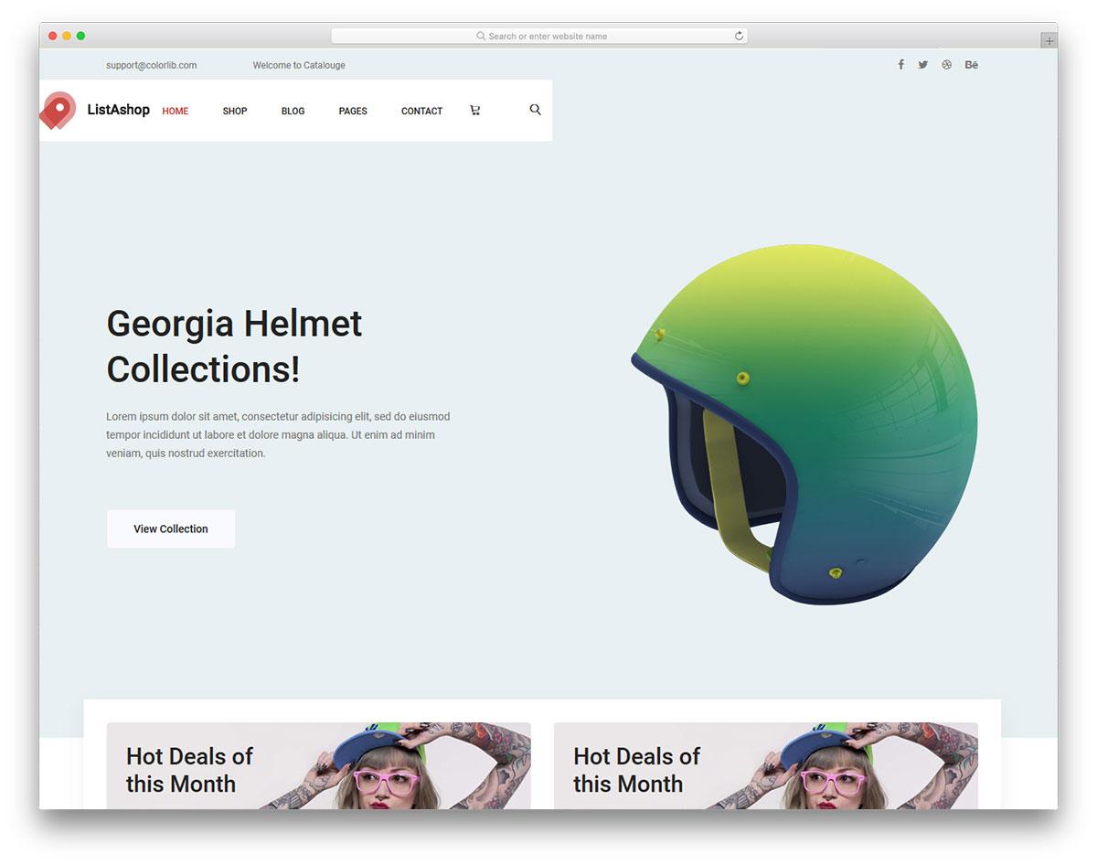 Скачать бесплатно html шаблон Listashop