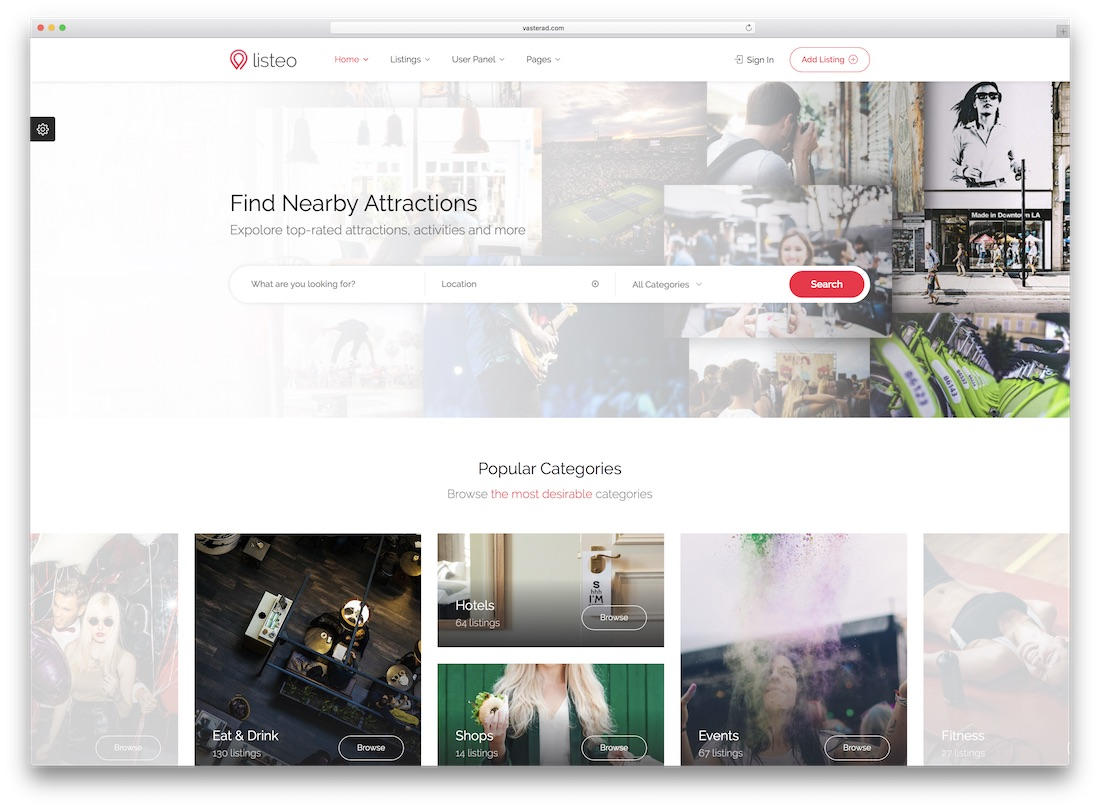 listeo directory website template