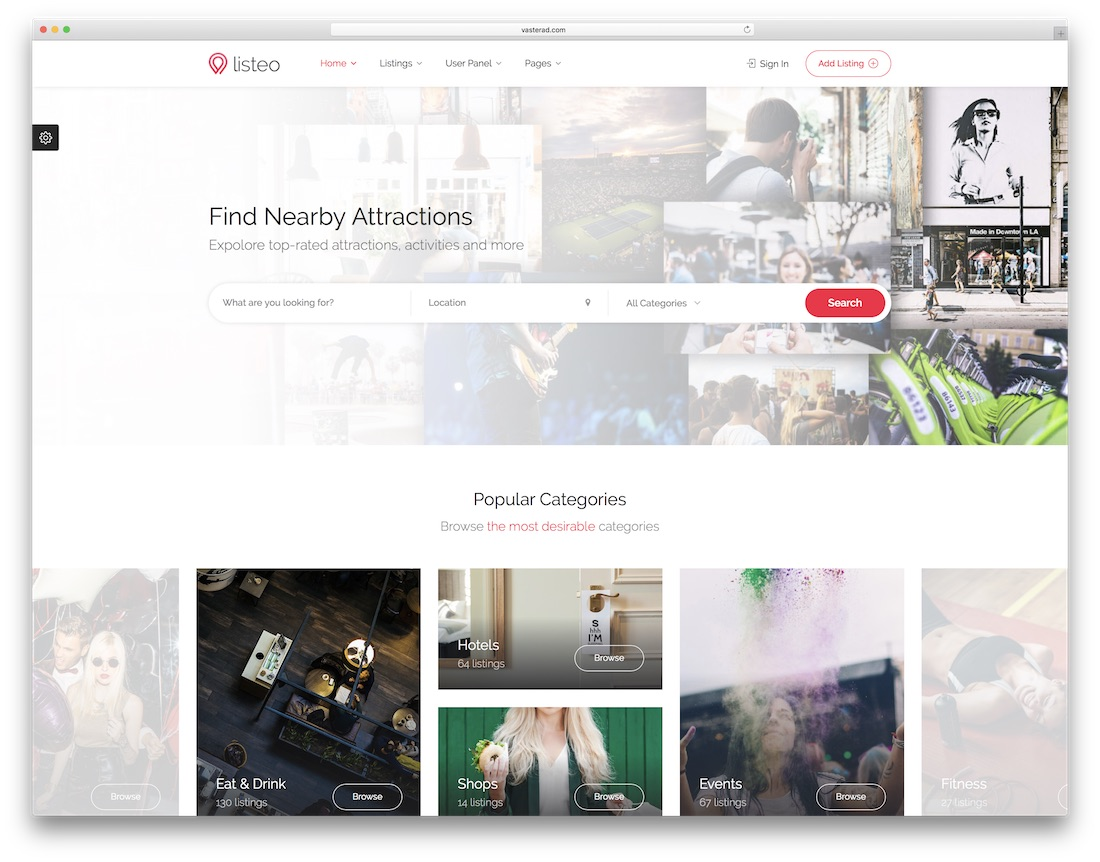 listeo mobile friendly website template