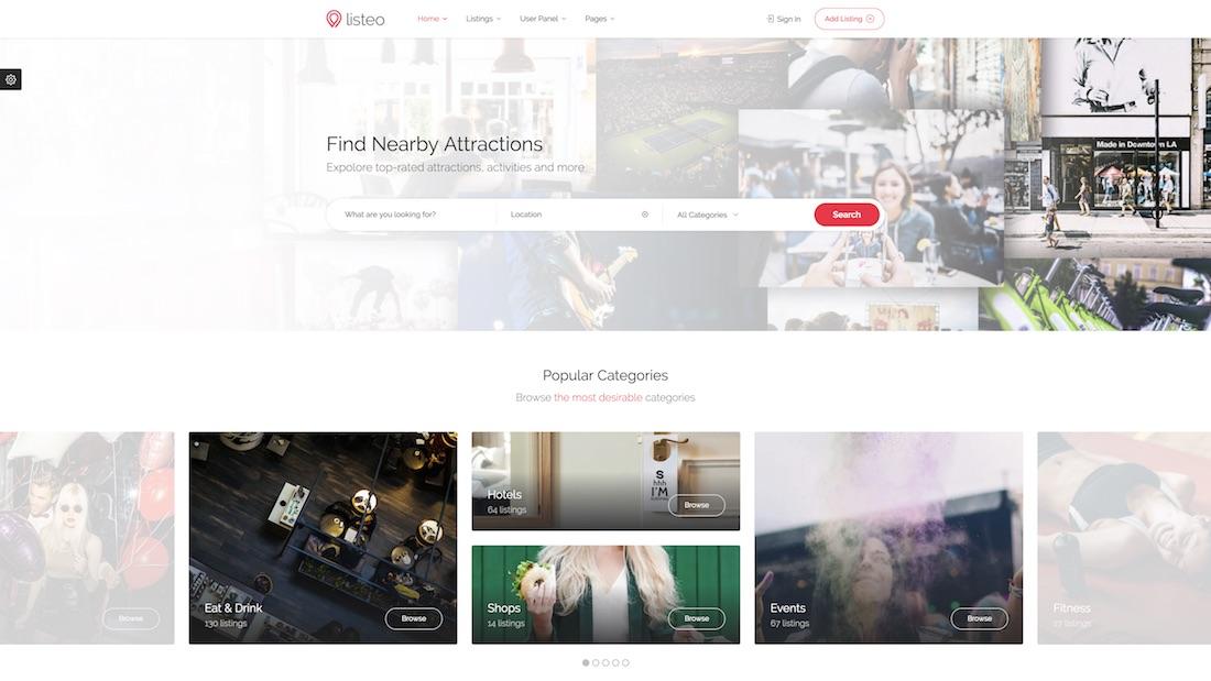 listeo mobile-friendly website template