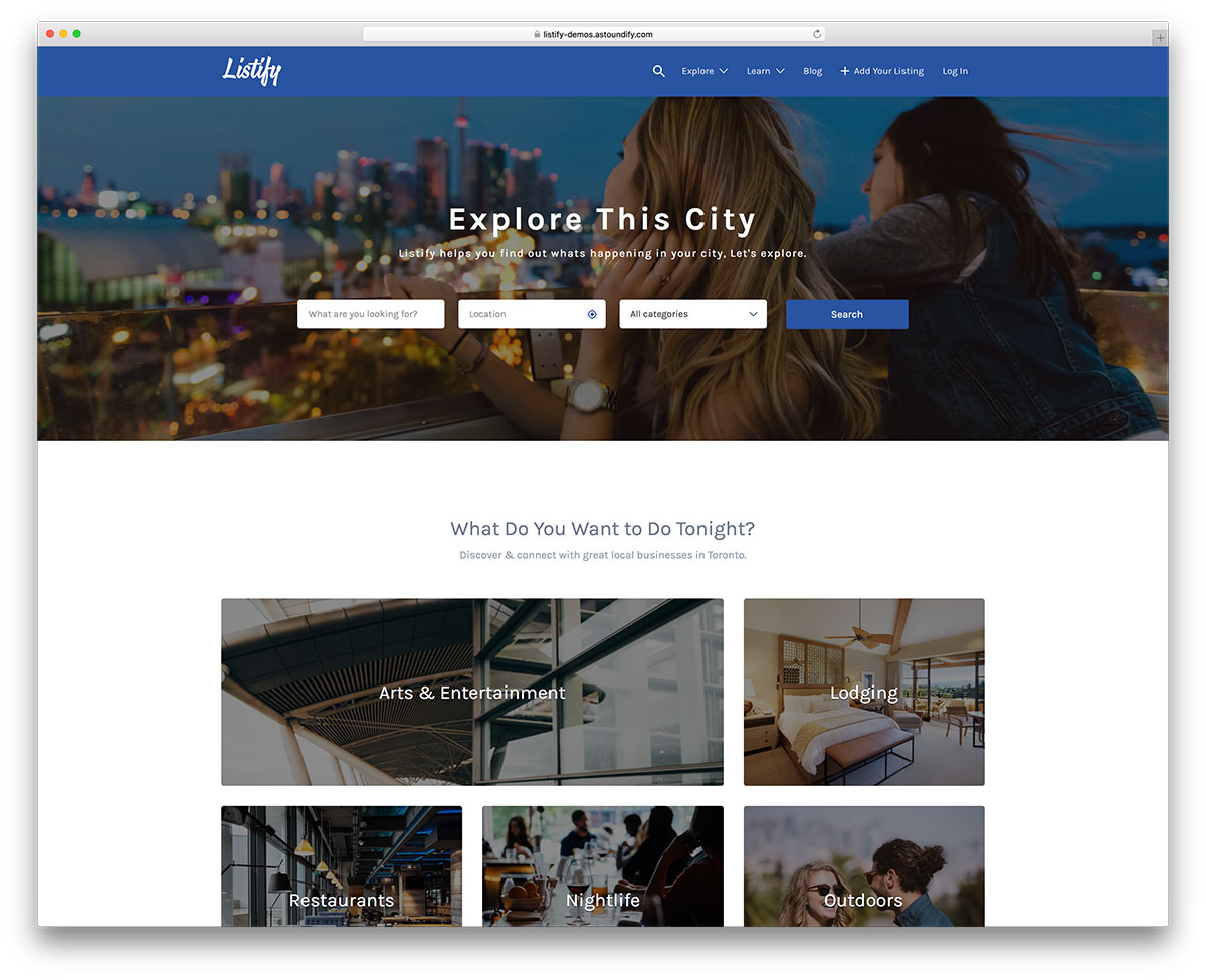 listify-creativre-directory-wordpress-template