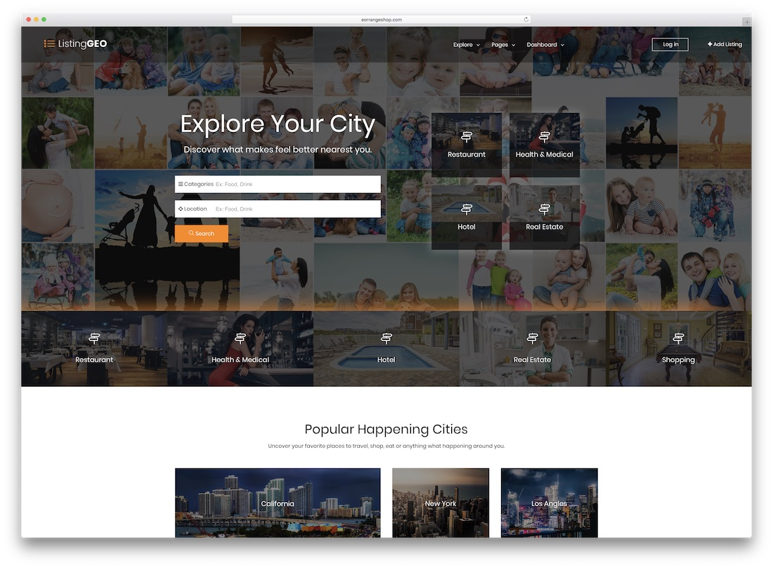 23 top responsive html5 directory website templates 2018 colorlib listinggeo directory website template cheaphphosting Image collections