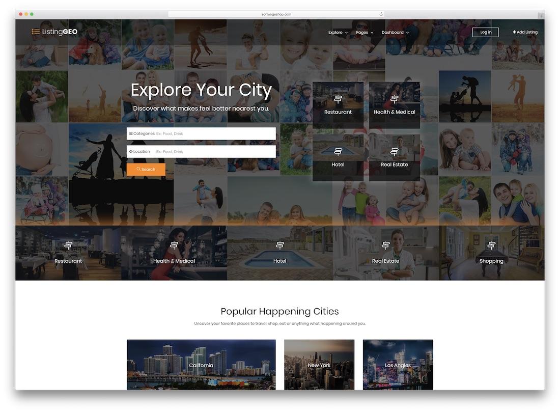 listinggeo directory website template