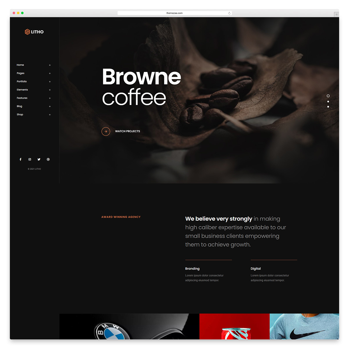 litho creative wordpress theme