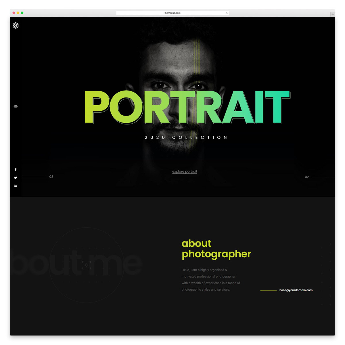 litho photography wordpress theme