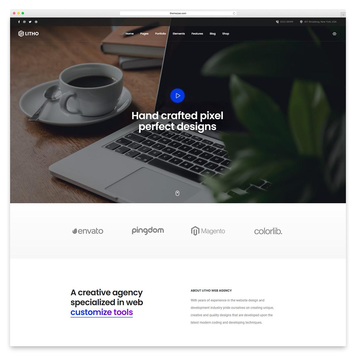 litho simple wordpress theme