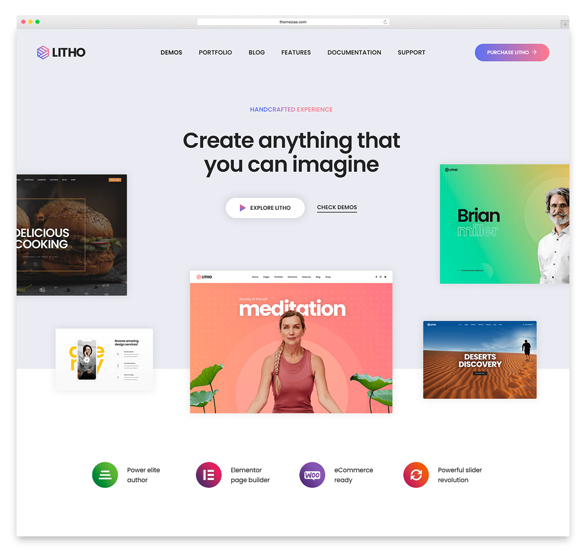 litho unique wordpress theme