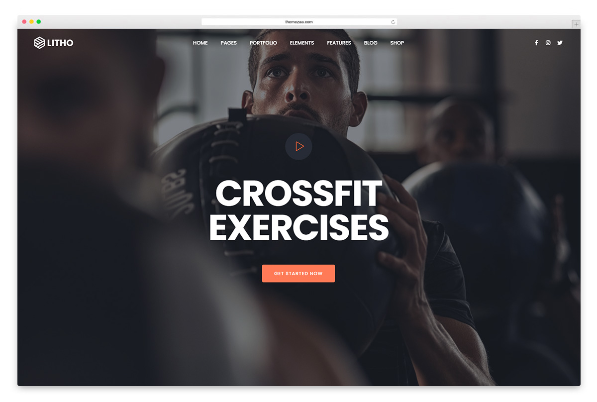 litho wordpress fitness theme