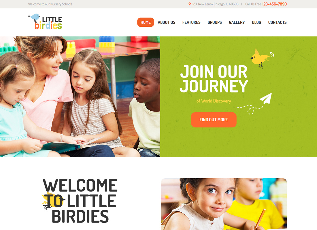 Little Birdies - A Multipurpose Children WordPress Theme
