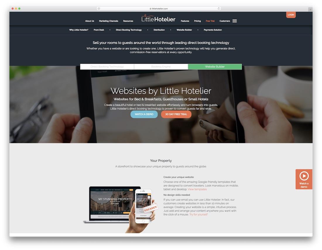 little hotelier hotel website builder