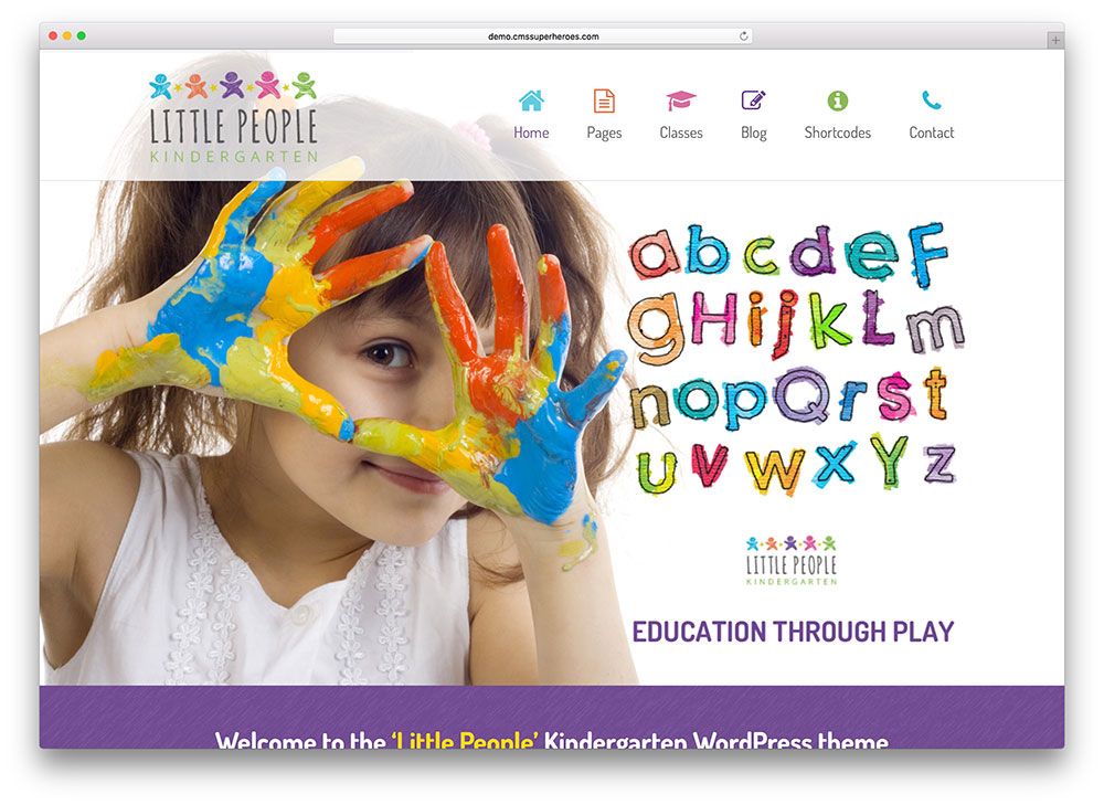 little-people-kids-education-template