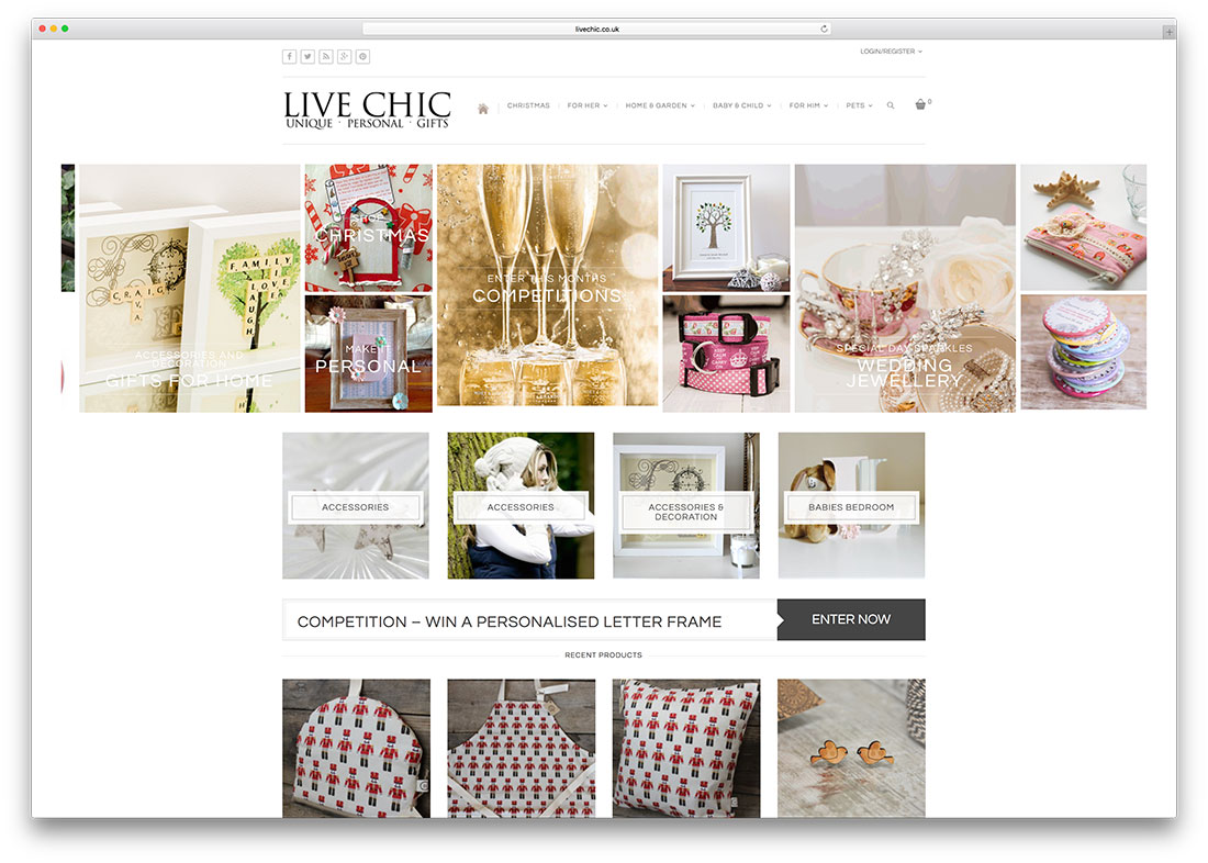 livechic-personal-gifts-ecommerce-website-example
